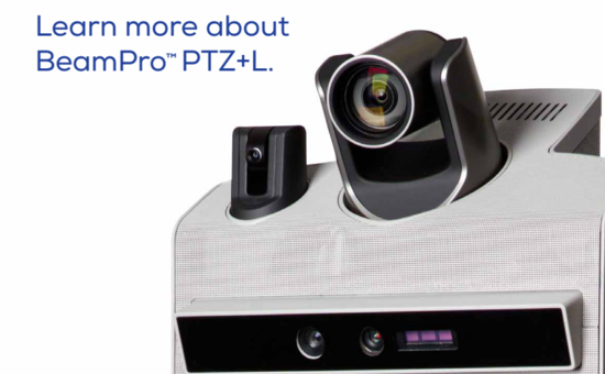 The new Suitable technologies BeamPro PTZ+L telepresence robot for the healthcare industry has a laser