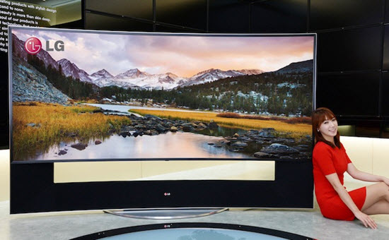 LG 105-inch curved UHD TV