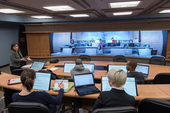 Rutgers Modern Legal Classroom Uses Telepresence To