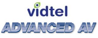 Vidtel and Advanced AV logos