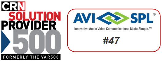 AVI-SPL Places 47th in the CRN Solution Provider 500
