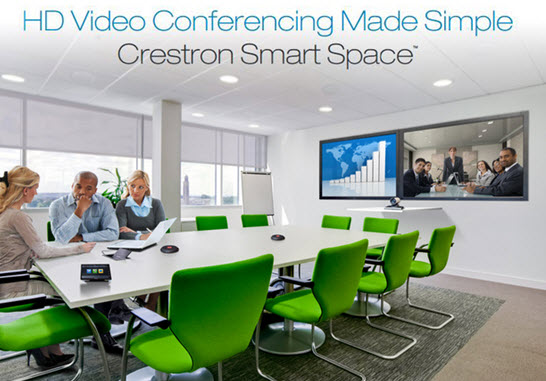 Crestron smart space simplifies and streamlines hd video for Smart space solutions