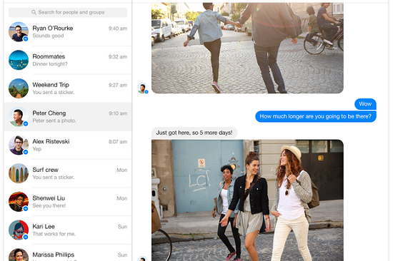 facebook-messenger-web-app