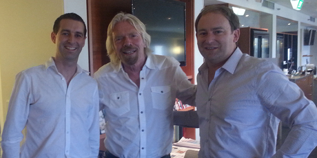 Danny Tomsett, Sir Richard Branson, Mark Christensen