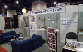 NAB Show with Telepresence Options - Telepresence Options' Booth.JPG